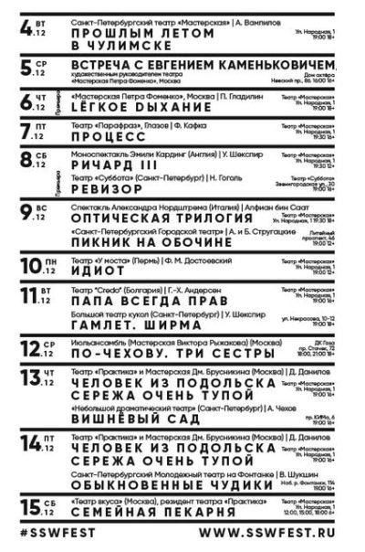 Открытие II театрального фестиваля «Школа. Студия. Мастерская»
